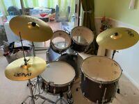 Gretsch Energy 5 Piece Grey Steel Drum Kit with stool