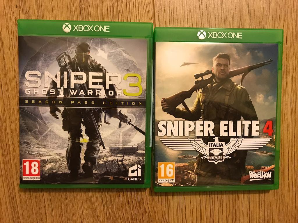 Sniper Ghost Warrior 3 and Sniper Elite 4 for xBox One