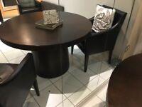 Solid wood round table 120cm diameter