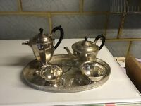 Silver Plated Set with Tray