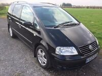 VW SHARAN 1.9 TDI SPORT DIESEL 7 SEATER X REG IN STUNNING METALLIC BLACK WITH 7 SEATS 07867955762