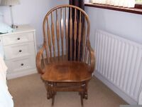 Solid wood Rocking and glider chair