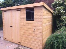 10x8 PENT ROOF GARDEN SHEDS (HIGH QUALITY) £629.00 ANY SIZE (FREE DELIVERY AND INSTALLATION)