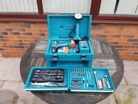 Makita Drill set 12v inc toolbox, torch + tools