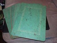 Set of twelve jade green pimpernel place table mats