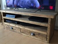 Handcrafted oak TV stand for sale