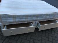 Double divan bed with drawers-£45 delivered