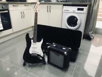 Cruiser Electric Guitar + Amplifier + Roadrunner Case