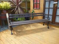6ft cast alluminium frame and timber garden bench. new unused