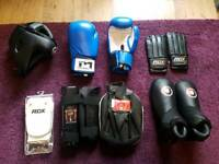 Kickboxing kit and bag