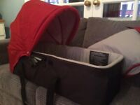 Red Carrycot for City Mini baby jogger single and double pushchair