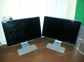"2 x HP Pavilion 22"" Monitors (w2207h and w2207)"