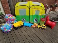 Selection of outdoor toys