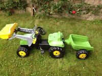 Rolly Toys Tractor and Trailer with front loader