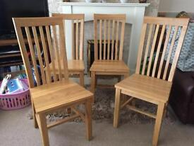 Solid Oak Dining Chairs SOLD