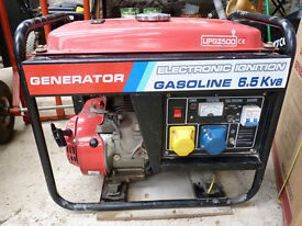 6.5 kva petrol generator. It works. Used about 28 hours in 6 years.