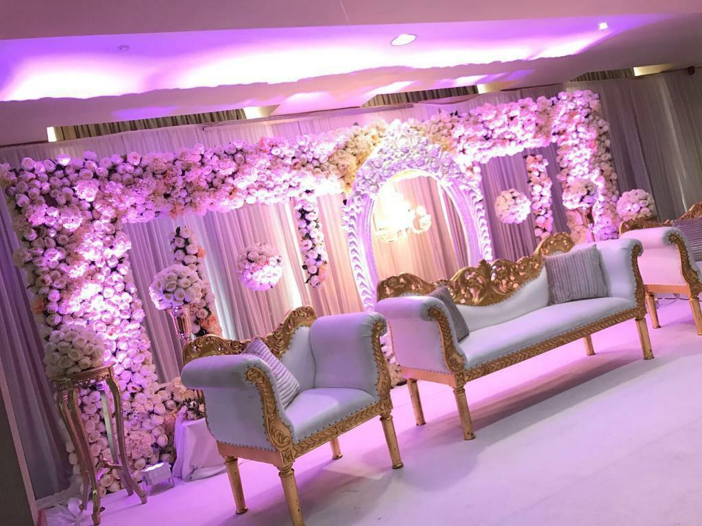 Asian wedding stage mehndi stage centrepieces marquee cutlery crockery hire in birmingham city centre west midlands gumtree