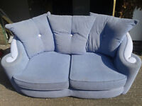 light Blue 3 Seater Sofa/Couch For Sale in Good Condition £40.00 Can arrange delivery