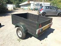 Trailer 5ft x 4ft with jockey wheel and cover