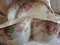 Gift Set Vintage Royal Vale Pink Roses China set, b.days/get well/wedding gift