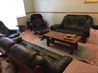High qulaity furniture, leather sofas, dining table with 6 chairs. reclining chairs SOFA
