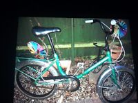Unisex a aw awdult folding bike 3 speed quite old