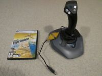 Logitech Joystick + Flight Simulator X - Happy to deliver free if Purchaser is local in Cardiff