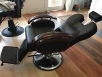 Woode arm Heavy duty Big Barber Chair Salon Hydraulic Reclining Hairdressing Threading Shaving