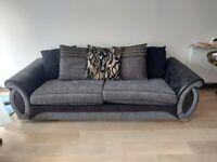 Black Fabric/Leather Sofas