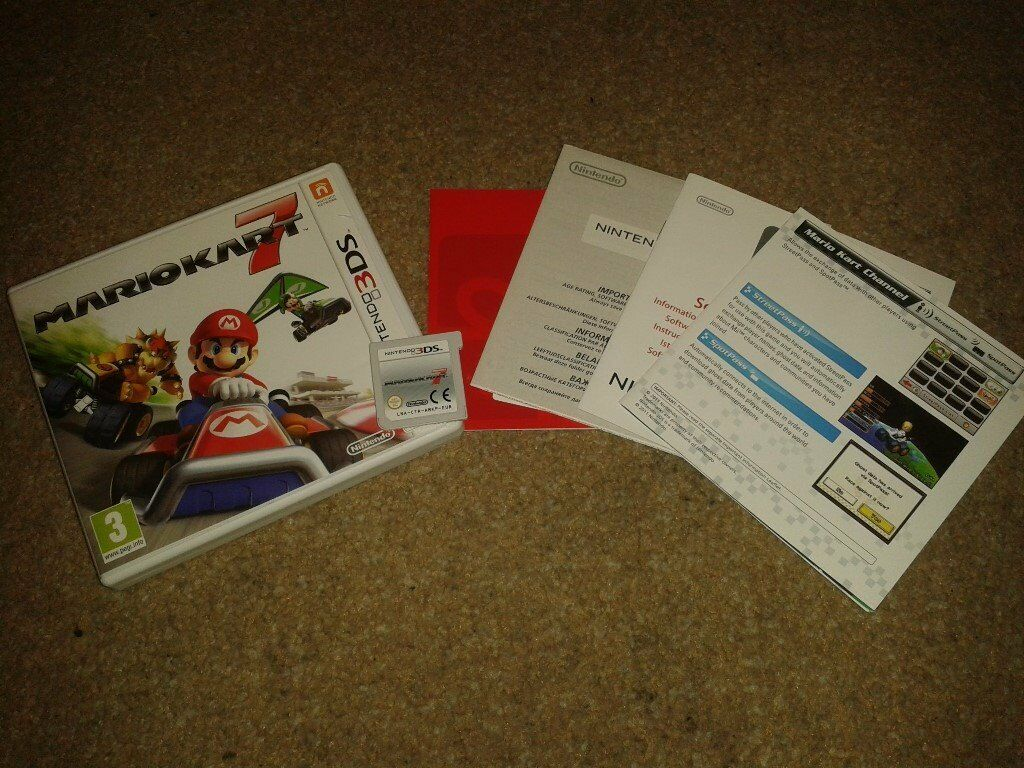 MarioKart 7, 3DS game, boxed with manual