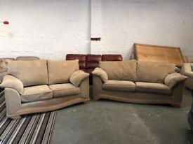 Gorgeous beige fabric sofa set