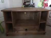 Pine TV cabinet / unit / table - shabby chic