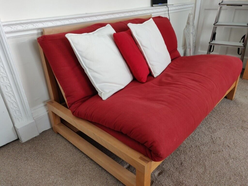 2 Seater Birch Wood Sofa Bed Futon Company In West End London