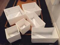 6 x White Ikea storage cubes