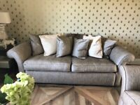 Used, 2 x sofas purchased at Sofa Workshop upholstered in Designers Guild fabric for sale  Barnsley, South Yorkshire