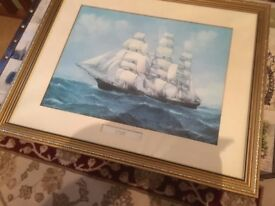 Framed Picture of cutty sark