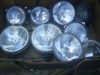 Job lot vintage car driving lights new and like new including 1 new old stock ford xr