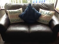 Brown leather sofa great £50