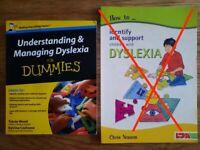 2 Books Understanding Dyslexia in Children (price in text)