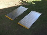 PAIR OF 4FT ALLOY RAMPS NEW / UNUSED..