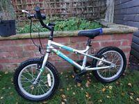"""Dawes Blowfish 16"""" wheels age 5-8 kids bike"""