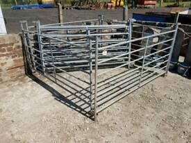 Nine sheep goat pig livestock gates hurdles tractor