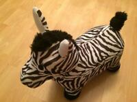 Kids bouncy zebra