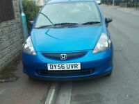 honda jazz,1.2, 2006, drives well, 5 doors, two owners