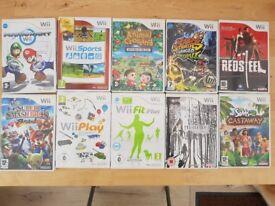 Ten Nintendo Wii Games