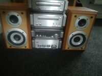 Technics stereo system with tape and CD player