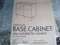 White B&Q Standard Base Cabinet White