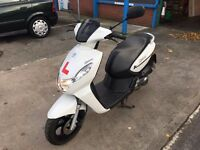 Peugeot Kisbe 50R moped - 12 months old