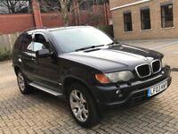 2003 BMW X5 3.0 SPORT PETROL AUTOMATIC BLACK POWERFUL 5 SEAT 4X4 JEEP LEATHERS N ML LAND ROVER 530