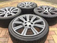 "20"" Range Rover Stormer Refurbished Alloy Wheels And Tyres VW Transporter T5 T30"